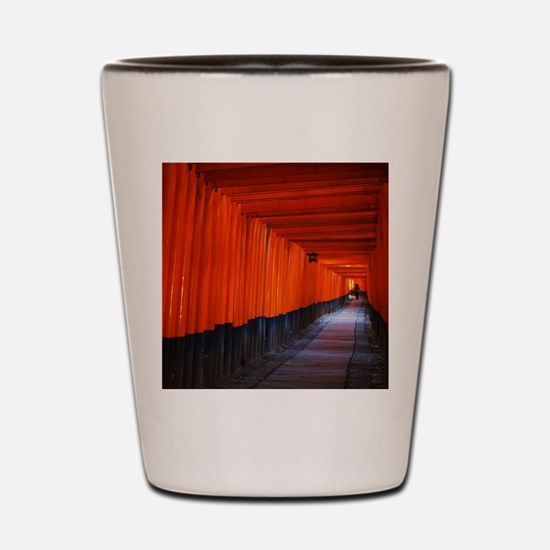 Torii Gates in Kyoto, Japan Shot Glass