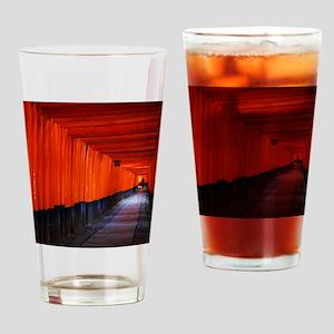 Torii Gates in Kyoto, Japan Drinking Glass