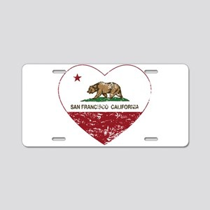 california flag san francisco heart distressed Alu