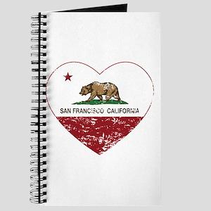 california flag san francisco heart distressed Jou