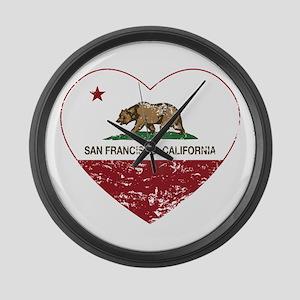 california flag san francisco heart distressed Lar