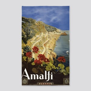 Vintage Amalfi Italy Travel 3'x5' Area Rug