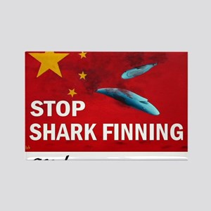 shark-finning-dogs Rectangle Magnet