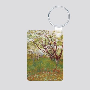Cherry Tree Aluminum Photo Keychain