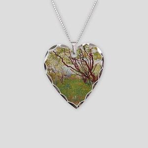 Cherry Tree Necklace Heart Charm