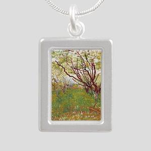 Cherry Tree Silver Portrait Necklace