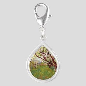 Cherry Tree Silver Teardrop Charm