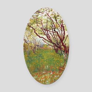 Cherry Tree Oval Car Magnet