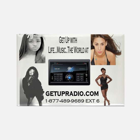 get up radio car magnets Rectangle Magnet