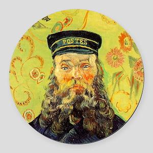 Joseph Etienne Roulin (Postman) Round Car Magnet