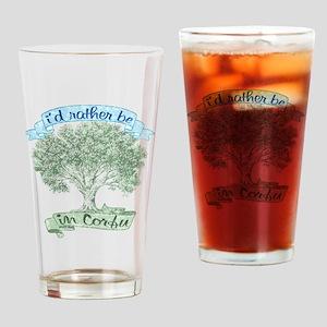 2-corfu_t_shirt_olive_tree Drinking Glass