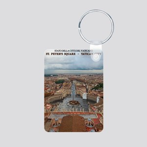 Vatican City - St Peters S Aluminum Photo Keychain