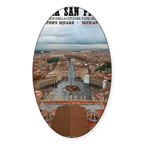 Vatican City - St Peters Square Sticker (Oval)