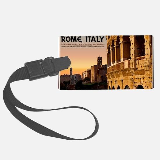 Rome - Roman Forum Sunset Large Luggage Tag