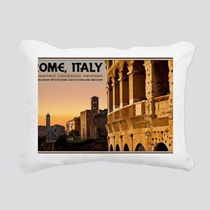 Rome - Roman Forum Sunse Rectangular Canvas Pillow