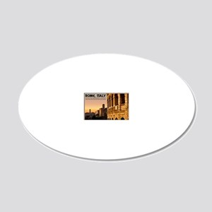 Rome - Roman Forum Sunset 20x12 Oval Wall Decal