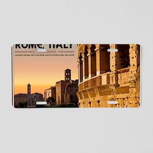 Rome - Roman Forum Sunset Aluminum License Plate