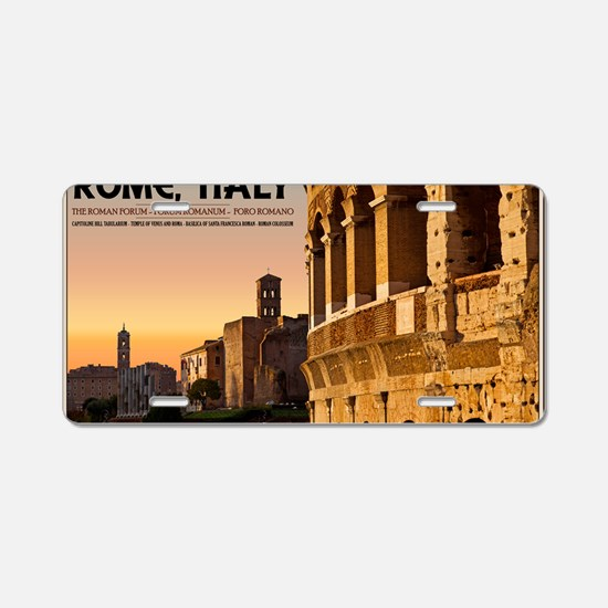 Rome - Roman Forum Sunset Aluminum License Plate