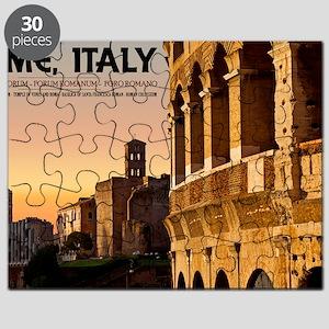 Rome - Roman Forum Sunset Puzzle