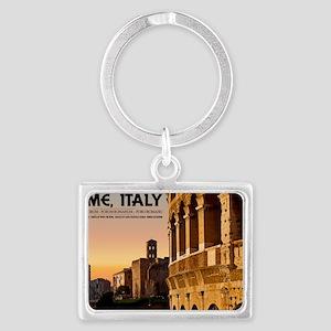 Rome - Roman Forum Sunset Landscape Keychain