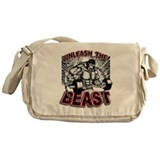 Bodybuilding Canvas Messenger Bags