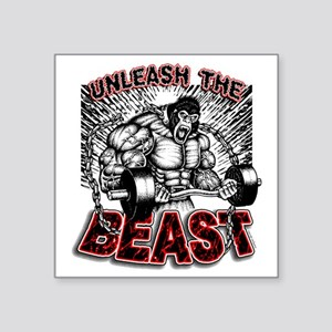 "Unleash The Beast 2 Square Sticker 3"" x 3"""