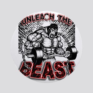 Unleash The Beast 2 Round Ornament