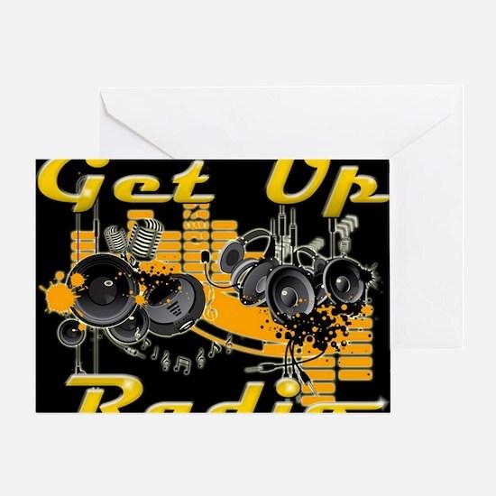 getupradio-sweater 1 Greeting Card
