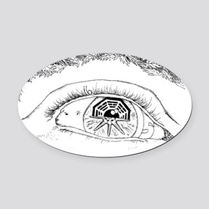 Eye T-Shirt3 Oval Car Magnet