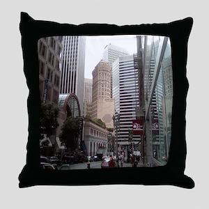 Hobart Building Throw Pillow