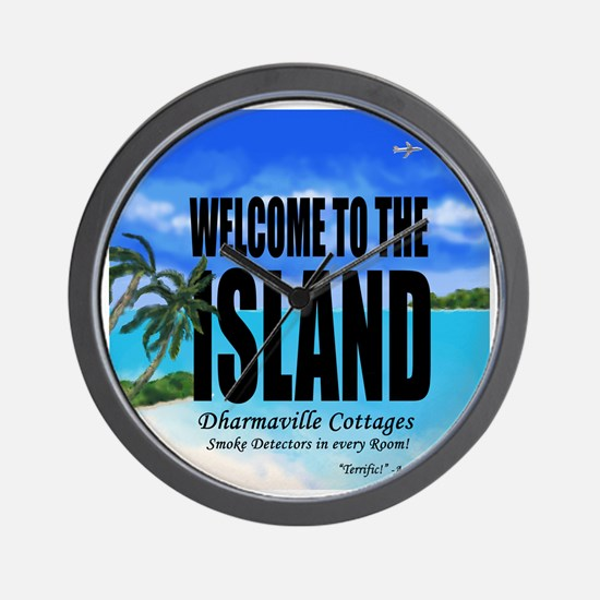 Welcome to the Island Smoke Detectors i Wall Clock