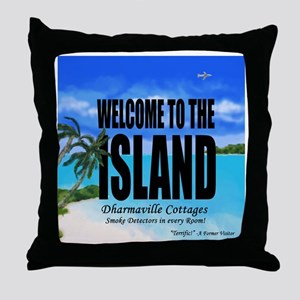 Welcome to the Island Smoke Detectors Throw Pillow