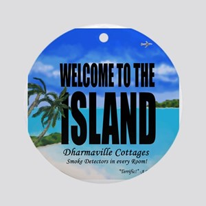 Welcome to the Island Smoke Detecto Round Ornament