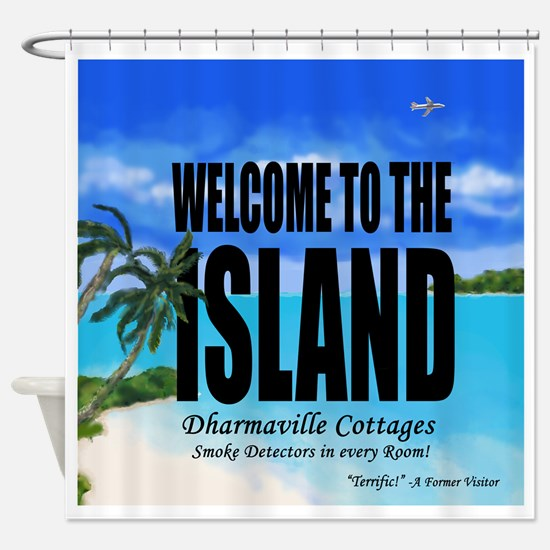 Welcome to the Island Smoke Detecto Shower Curtain
