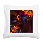 Eyes & Swirls Square Canvas Pillow