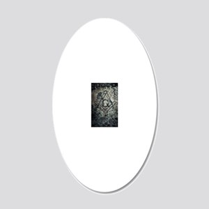 IronMason2 20x12 Oval Wall Decal