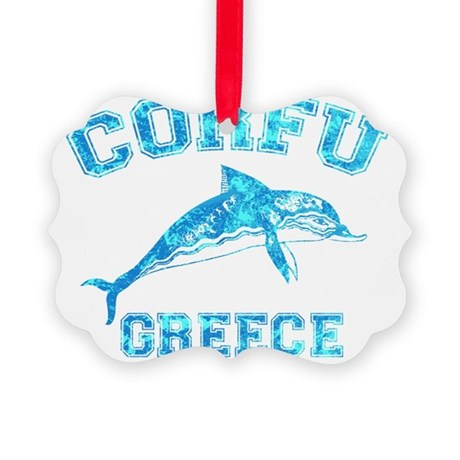 corfu_t_shirt_varsity Picture Ornament