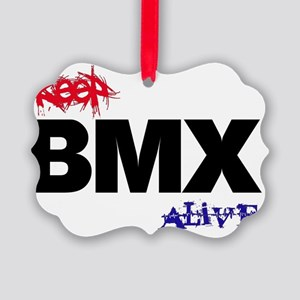 Keep BMX Alive - shirt Picture Ornament