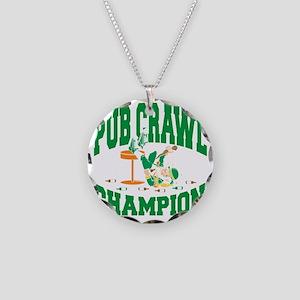 pat284black Necklace Circle Charm