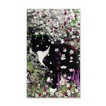 Freckles Tux Cat Flowers I 20x12 Wall Decal