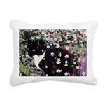 Freckles Tux Cat Flowers Rectangular Canvas Pillow