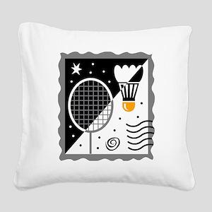 Badminton Square Canvas Pillow