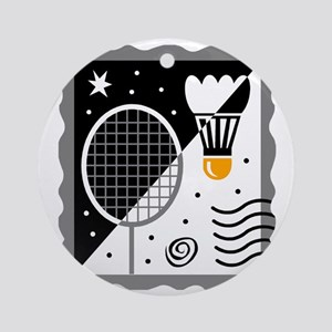 Badminton Round Ornament