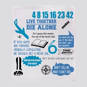 lost-quotes-FORDARKS Throw Blanket