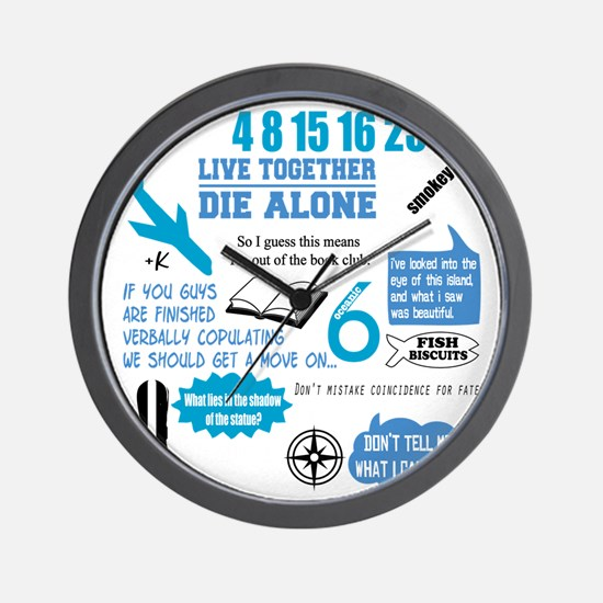 lost-quotes-FORDARKS Wall Clock
