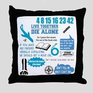 lost-quotes-FORDARKS Throw Pillow