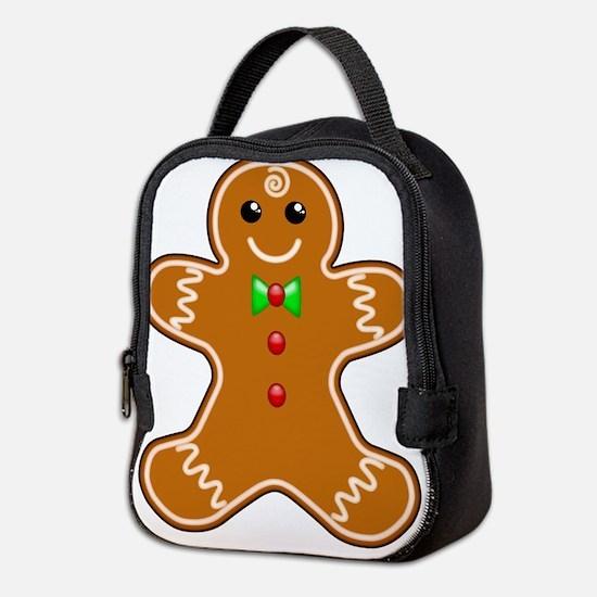 Gingerbread Man Neoprene Lunch Bag