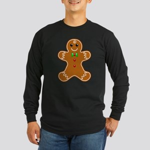 Gingerbread Man Long Sleeve Dark T-Shirt