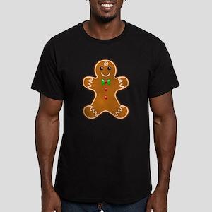 Gingerbread Man Men's Fitted T-Shirt (dark)
