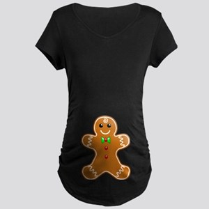 Gingerbread Man Maternity Dark T-Shirt